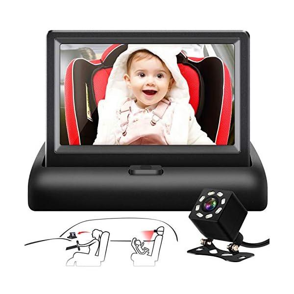 "Shynerk Baby Car Mirror, 4.3"" HD Night Vision Function Car Mirror Display,..."