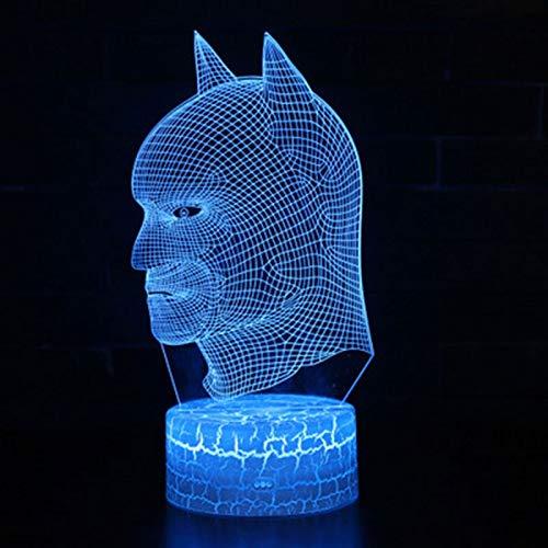 Veilleuse Super batman thème 3D lampe LED lumière de nuit 7 changement de couleur changement d'humeur lampe d'humeur cadeau de Noel