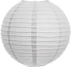 Kala Decorators 10 inch (25 cm* 25cm) White Hanging Paper Lantern(1 Pc) Paper Ball Lamp Shade for Diwali,Wedding, Party,Decoration