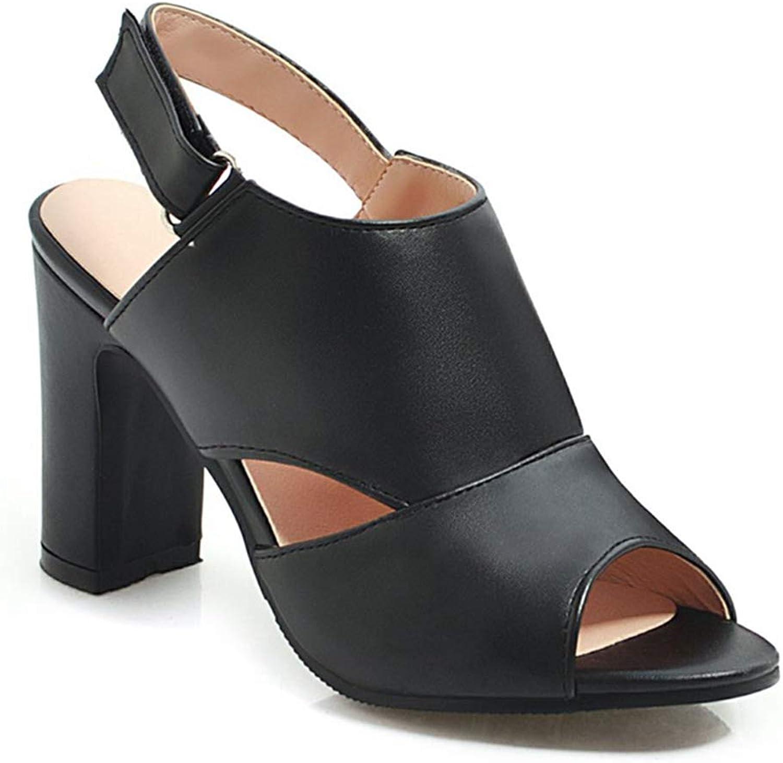 SaraIris Women's Open Toe Block Heel Cut Out Slingback Sandals Dress Ankle Booties