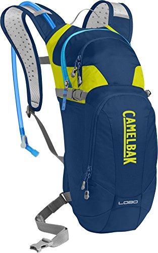 CamelBak Lobo  - Mochila de hidratación, Azul (Pitch Blue/Lime Punch), 3 litros