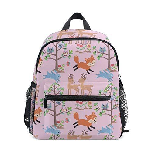 Kinderrucksack Tier im Wald Kindergarten Vorschule Tasche für Kleinkind Mädchen Jungen