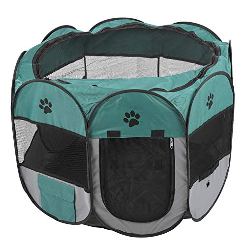 Nikou Pet Delivery Room Portable Pet Playpen Tent Folding Pet House Cage Outdoor Playpen for Cats Dogs(M)