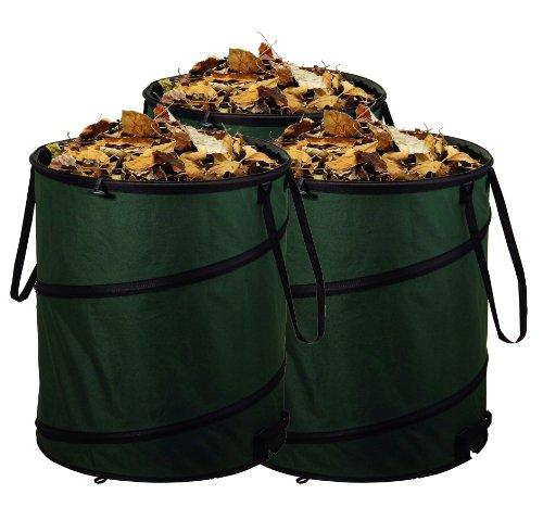 3er Set Gartensack Laubsack Gartenabfallsack Oxford 600D Qualität mit je 80 Liter Fassungsvermögen