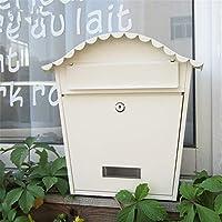 メールボックス 防雨屋外壁掛けご意見ご感想パストラル創造メールボックスを持つロックホワイト 壁付け (Color : White, Size : 25x10.5x30.5cm)