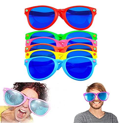 Dilightnews 6 Piezas Gafas de Sol de Plástico Divertidas, Gafas de Fiesta de Cumpleaños Novedosas Para Traje de Playa Vestido de Lujo Foto Apoyos Suministros Para Fiestas
