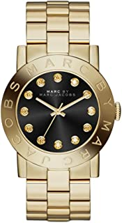 Marc by Marc Jacobs Amy Women's Black Dial Stainless Steel Band Watch - MBM3334