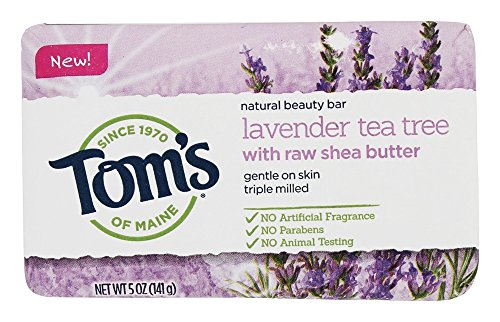 Tom's of Maine Natural Beauty Bar Soap With Raw Shea Butter, Lavender Tea Tree, 5 Ounce, 6 Count Tom's of Maine Natural Beauty Bar Soap With Raw Shea Butter, Lavender Tea Tree, 5 Ounce, 6 Count