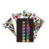 Fichas Arreglo Lateral Ilustración Poker Jugando Tarjeta Mágica Divertida Juego De Tablero