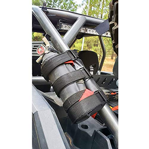 UNIGT UTV Roll Bar Fire Extinguisher Holder Compatible with Polaris RZR Ranger General 900 1000 XP Maverick X3 - Enhanced Stitching Quick Release