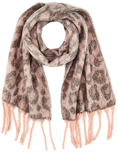 ONLY Damen ONLPOLLY HEAVY BRUSHED SCARF LEO Schal, Rosa (Misty Rose Misty Rose), (Herstellergröße: One Size)