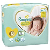 Pampers New Baby Premium Protection, Taille 0, (1.5-2.5 kg)/(1-2.5kg) 6 x 24 couches