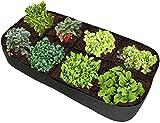 SDKFJ Bolsas de Cultivo Bolsas de Cultivo de Plantas con 8 Rejillas divididas, Cama de Verduras elevada Dividida, Cama de plantación elevada de Tela Bolsas de Jardinera de jardín para Plantas de FLO