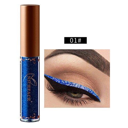Allbesta Glitter Flüssig Eyeliner Lidschatten Metallic Farben Wasserfest Make-Up Shimmer Eye Liner Kosmetik Augen Make Up