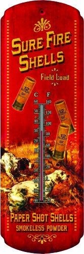 Rivers Edge Sure Fire Shells Nostalgic Tin Thermometer