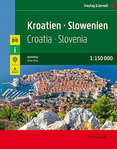Kroatien - Slowenien, Autoatlas 1:150.000: Superatlas (freytag & berndt Autoatlanten)