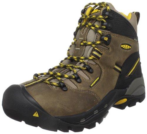 """KEEN Utility Men's Pittsburgh 6"""" Steel Toe Waterproof Work Boot, Slate Black/Slate Black, 10.5 Medium US"""