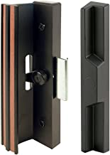 Prime-Line Products C 1106 Prime-Line Clamp Style Handle Set, 1/2 In Projection, 7-3/8 In L X 2 In W, Aluminum, Painted, Black