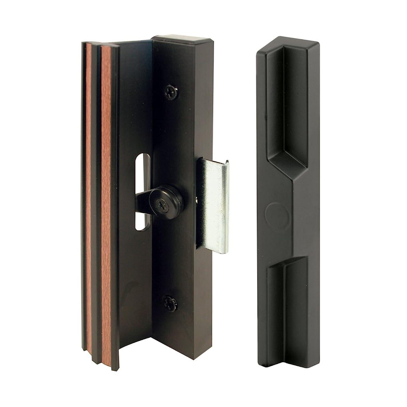 Prime-Line Products C 1106 Diecast Sliding Door Handle Set, Black Aluminum