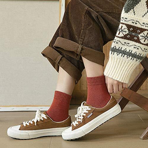 FANG warme sportsokken, herfst en winter badstof sokken warm houden eenkleurig vrouwelijke buizensokken vrouwelijk verdikt (10 paar), kwartssokken