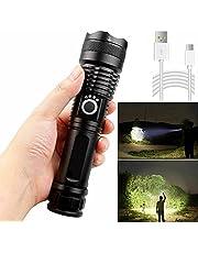 ATIN 900000Lumen High Power XHP50 Zoom Zaklamp LED Oplaadbare Torch Koplamp