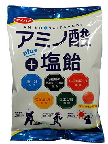 アメハマ製菓 アミノ酸+塩飴 70g ×12袋