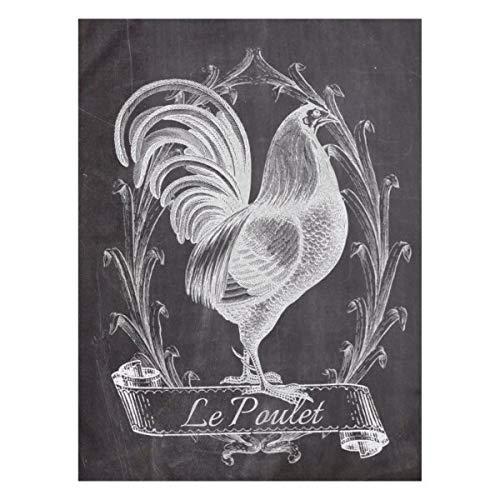 Mantel rústico chic con diseño de gallo francés