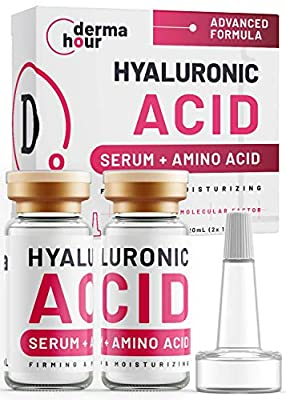 WINNER 2020. Hyaluronic Acid Serum. HA 9.4X Effect Toner for face skin, eyes wrinkles and daily skincare routine. Anti-ageing care by DermaHour. Day/Night 2x 10ml (20ml) by
