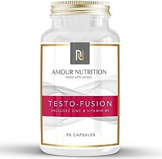 Testo-Fusion, Testosteron Supplement met hoge weerstand - Testosteron Booster voor mannen, ondersteunt testosteron niveau...