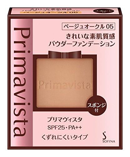 プリマヴィスタきれいな素肌質感パウダーファンデーションベージュオークル05SPF25PA++9g