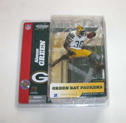 NFL McFarlane Toys Sports Picks Series 8 Figura de acción Ahman Verde (Green Bay Packers) variante de jersey blanco