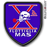 Patch/Aufnäher - Flottiglia Mas-Italien Kampfschwimmer Spezialeinheit italienischen Marine Comando...
