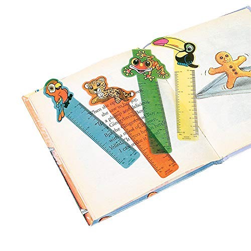 Fun Express Rainforest Animal Bookmarks for Kids - Book Markers - Classroom Prizes Book Marks - 48 Pack