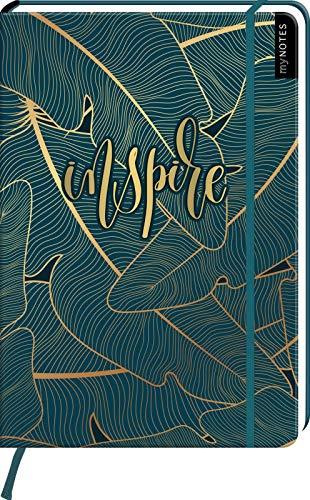 myNOTES Notizbuch A4: Inspire: Notebook large, dotted - für Träume, Pläne und Ideen / ideal als Bullet Journal oder Tagebuch