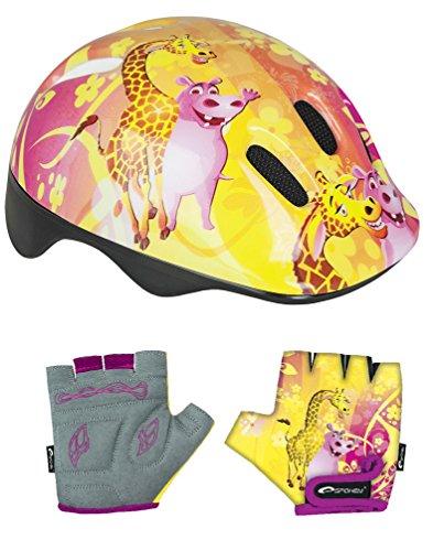 Speichen-Set für Kinder, Jungen, Mädchen, Fahrradhelm, Polizei, mit Handschuhen, Kinder, Police Pony Blue Racer Bolt, Giraffe, 15.5cm