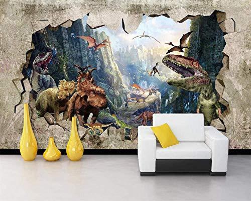 Tapete Fertigen Sie Große Tapete 3D Besonders An Altes Dinosaurier Königreich 3D Stereo Fernsehgeschäft Hintergrund Tapetenwand 3 D 280X200Cm