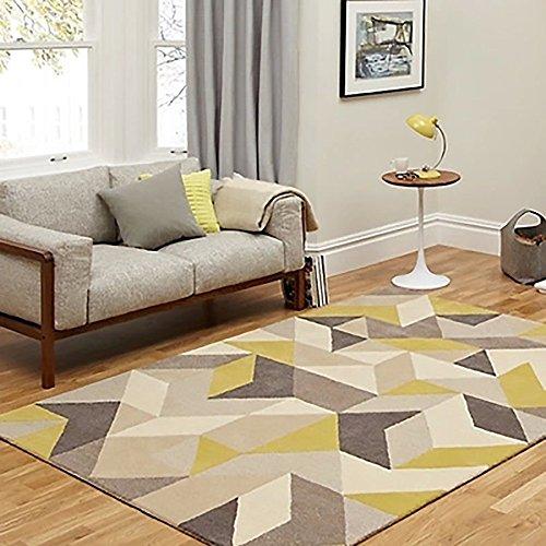 Everyday Home- Europäische und amerikanische Geometrie Schlafzimmer Wohnzimmer Couchtisch Matten Handgemachten Custom pillowtop Bett beige Acryl Teppich (größe : 2000MM×3000MM)