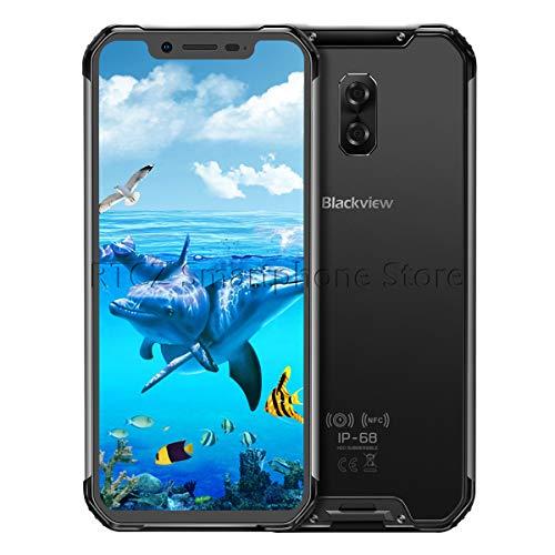 Blackview BV9600 PRO-Android 8.1 4G LTE屋外スマートフォン6.21インチ19:9 FHD AMOLEDディスプレイ(超狭額縁)、Helio P60 6GB + 128GB、5580mAhバッテリー、IP68 / IP69K防水/防塵、NFC (黒)