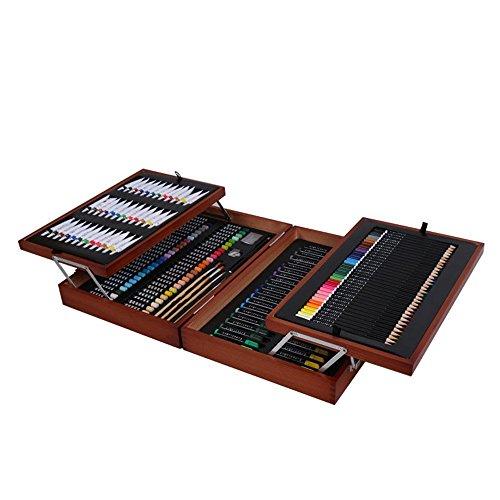 Chenbz Kinderzeichnung 174 Stück Set Holzkunst Liefert Geschenkbox Set Toolbox Aquarellbürste Kinder Zeichnung Kit