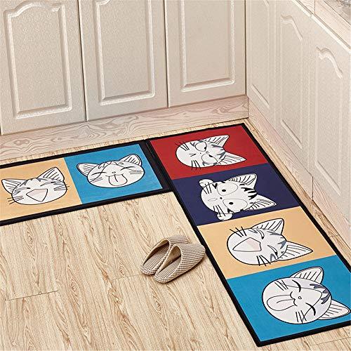 SONGHJ Polyesterteppich Cartoon-Druck Wasserabsorbierende Antirutschmatte Dekorativer Teppich Für Zu Hause Küche Bad