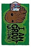 Guardianes de la Galaxia Vol. 2 Guardianes de la Galaxia Volumen 2 I Am Groot Bienvenido Felpudo Felpudo Coir, Verde, 60 x 40 x 1,5 cm