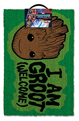 1art1 111664 Guardians of The Galaxy - Vol. 2, I Am Groot - Welcome Fußmatte Türmatte 60 x 40 cm