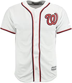 cd445492 Majestic MLB Youth Boys (8-20) Washington Nationals White Home Cool Base  Jersey