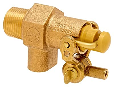 """Robert Manufacturing RC810 CASA Series Bob Red Brass Float Valve with Compound Operating Lever, 3/4"""" NPT Male Inlet x Free Flow Outlet, 36 gpm at 85 psi Pressure from Control Devices"""