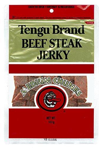 Tengu テングビーフジャーキー (ミディアムチャンク レギュラー) 【国産品】 (160g×【1袋】)
