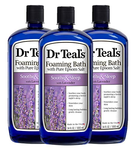 Dr Teal's Foaming Bath, Lavender, 34 Ounce (Pack of 3)