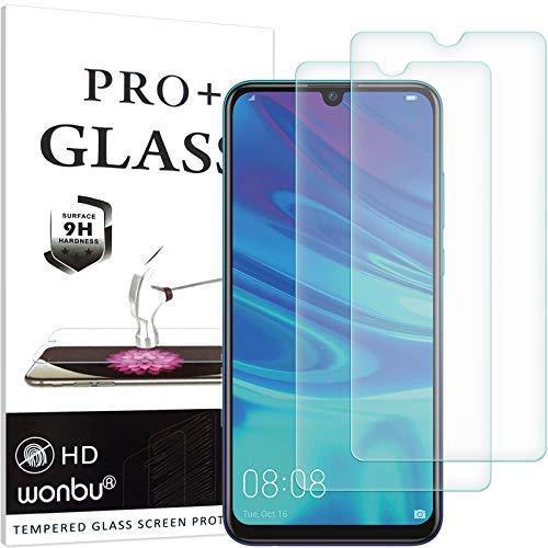 wonbu 2 Unidades, Cristal Templado para Huawei P Smart 2019, P Smart+ 2019, Antiarañazos, 9H, 0.33 mm Antihuellas, Protector de Pantalla Ultra Resistente
