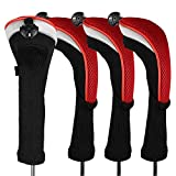FINGER TEN Golf Club Head Covers Woods Hybrids Value 3/4 Pack, Headcovers Men Women 3 5 7 X with...