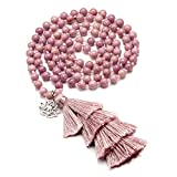 CrystalTears 108 Perlen mala Kette Wickelarmband Tibetische Buddhistische gebetskette Armband Meditations...