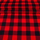 EDGE Flanell Baumwollstoff Karo 1lfm 150cm breit - rot